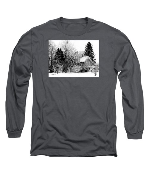 Da196 Snow House By Daniel Adams Long Sleeve T-Shirt