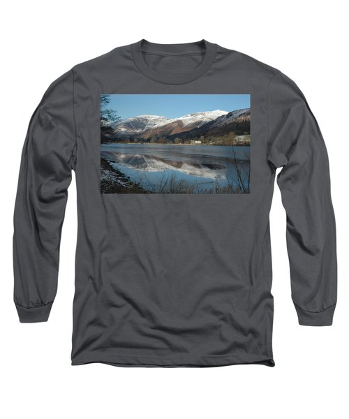 Snow Lake Reflections Long Sleeve T-Shirt
