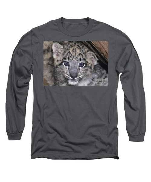 Snow Leopard Cub Endangered Long Sleeve T-Shirt