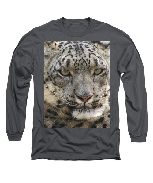 Long Sleeve T-Shirt featuring the photograph Snow Leopard by Diane Alexander