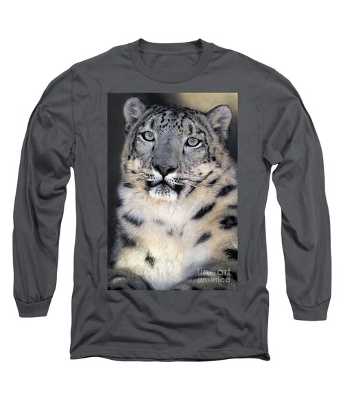 Long Sleeve T-Shirt featuring the photograph Snow Leopard Portrait Endangered Species Wildlife Rescue by Dave Welling