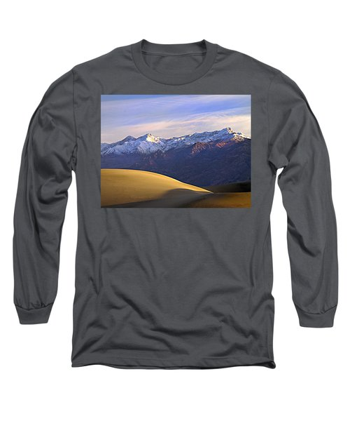 Snow On The Grapevine Range.  Long Sleeve T-Shirt