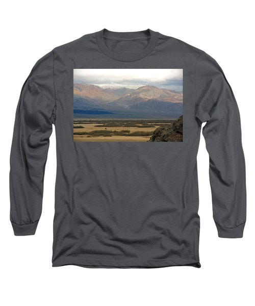 Long Sleeve T-Shirt featuring the photograph Snow Peaks by Stuart Litoff