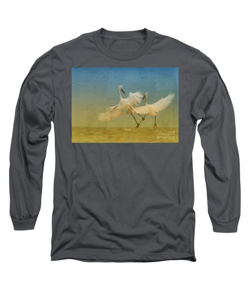 Snowy Egret Dance Long Sleeve T-Shirt