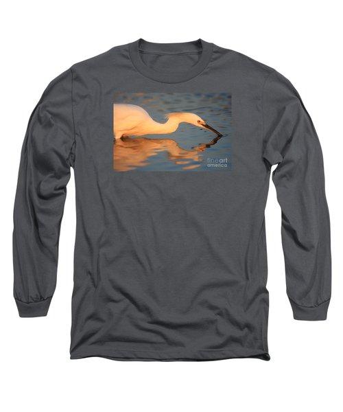 Snowy Egret Mirror Long Sleeve T-Shirt