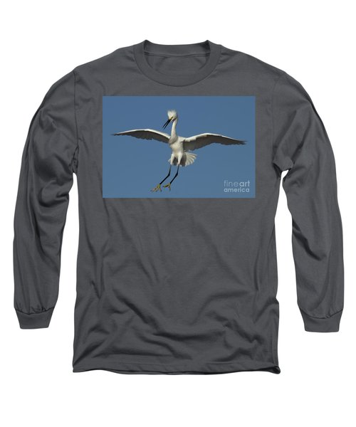 Long Sleeve T-Shirt featuring the photograph Snowy Egret Photo by Meg Rousher