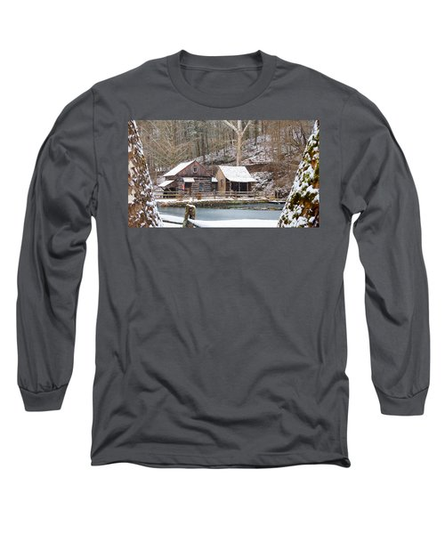 Snowy Morning In The Woods Long Sleeve T-Shirt