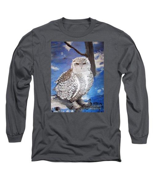 Snowy Owl . Long Sleeve T-Shirt by Francine Heykoop