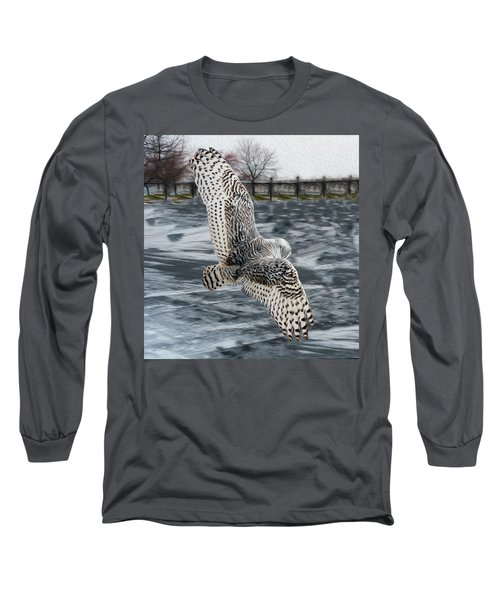 Snowy Owl Wingspan Long Sleeve T-Shirt