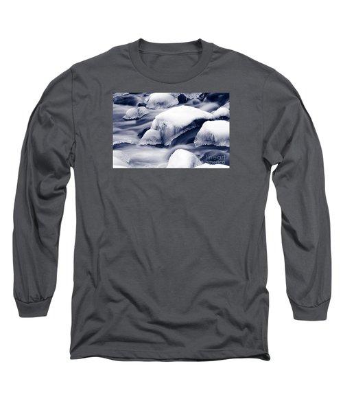 Long Sleeve T-Shirt featuring the photograph Snowy Rocks by Liz Leyden