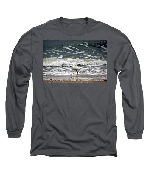 Snowy White Egret Long Sleeve T-Shirt
