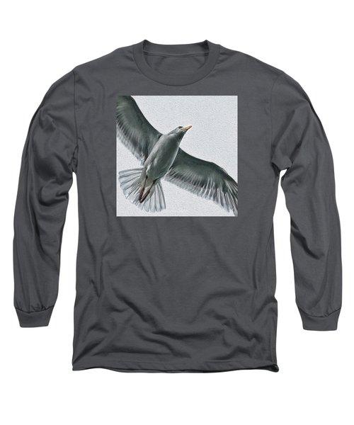 Soaring High Long Sleeve T-Shirt by Enzie Shahmiri