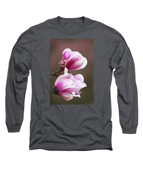 Soft Magnolia Blossoms Long Sleeve T-Shirt