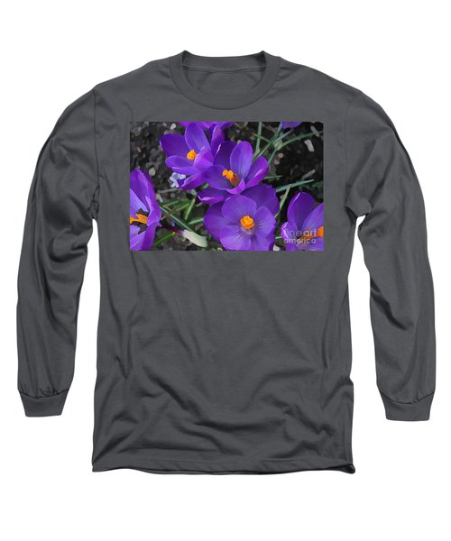 Soft Purple Crocus Long Sleeve T-Shirt
