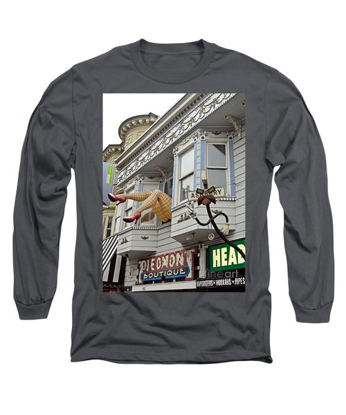 Something To Find Only The In The Haight Ashbury Long Sleeve T-Shirt by Jim Fitzpatrick