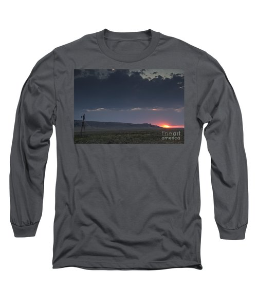 A Sunset Somewhere In Wyoming Long Sleeve T-Shirt