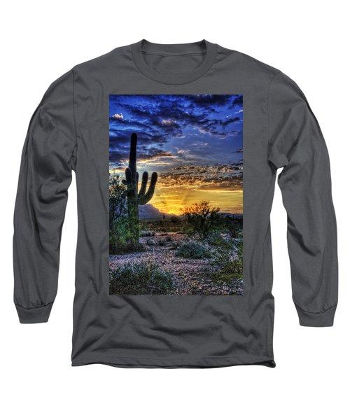 Sonoran Sunrise  Long Sleeve T-Shirt by Saija  Lehtonen