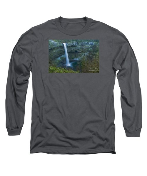 Long Sleeve T-Shirt featuring the photograph South Falls Winterscape by Nick  Boren