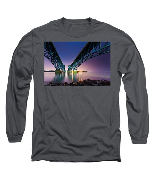South Grand Island Bridge Long Sleeve T-Shirt