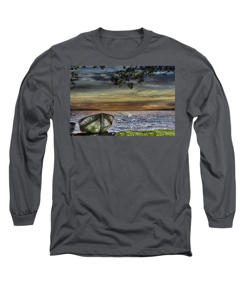 South Manistique Lake With Rowboat Long Sleeve T-Shirt