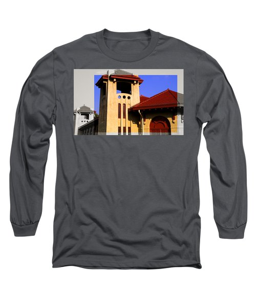 Spanish Architecture Tile Roof Tower Long Sleeve T-Shirt
