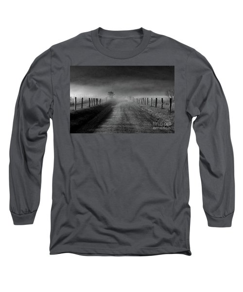 Sparks Lane In Black And White Long Sleeve T-Shirt by Douglas Stucky