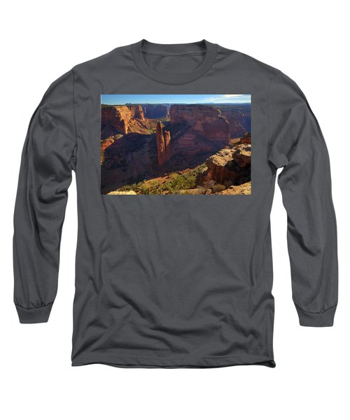 Long Sleeve T-Shirt featuring the photograph Spider Rock Sunrise by Alan Vance Ley