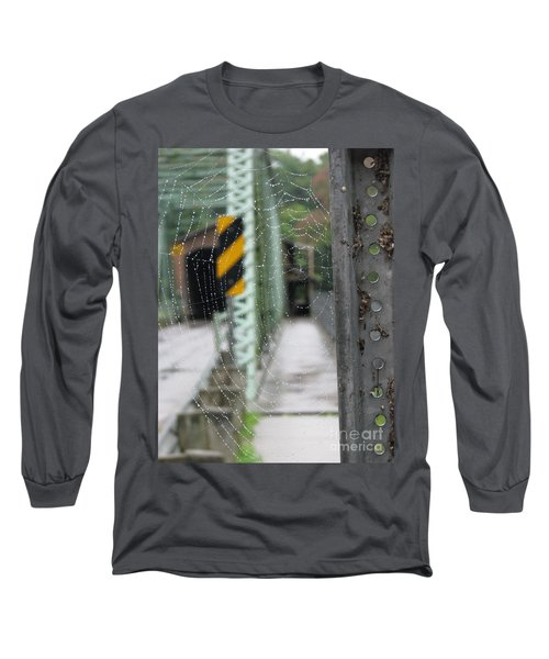 Spider Web Long Sleeve T-Shirt by Michael Krek
