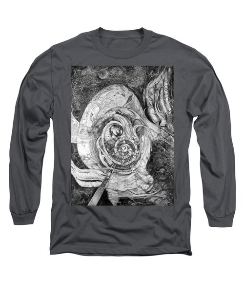 Long Sleeve T-Shirt featuring the painting Spiral Rapture 2 by Otto Rapp