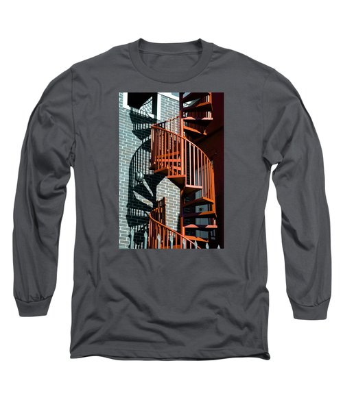 Spiral Stairs - Color Long Sleeve T-Shirt by Darryl Dalton