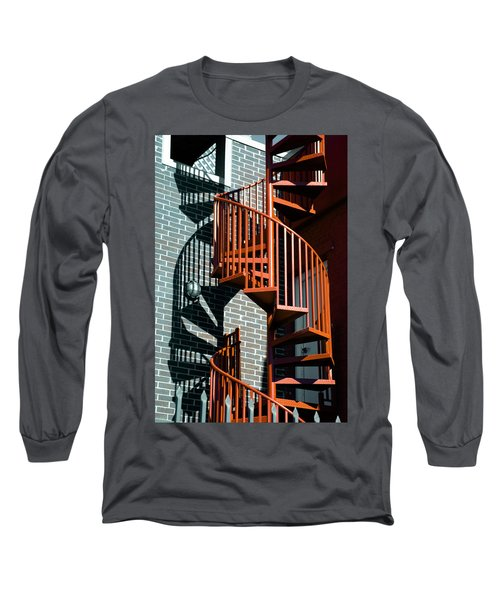 Spiral Stairs - Color Long Sleeve T-Shirt