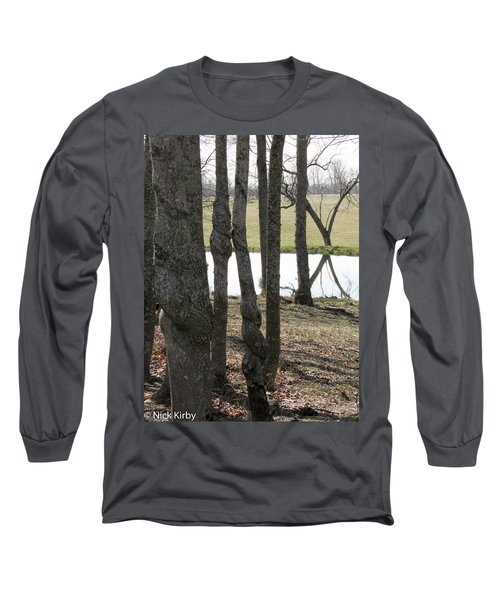 Long Sleeve T-Shirt featuring the photograph Spiral Trees by Nick Kirby