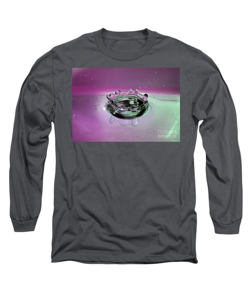 Splash Of Purple Long Sleeve T-Shirt