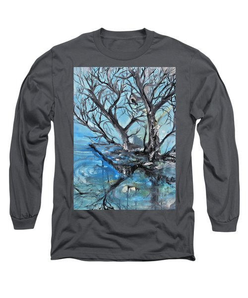 Spooky Mood Long Sleeve T-Shirt by Evelina Popilian