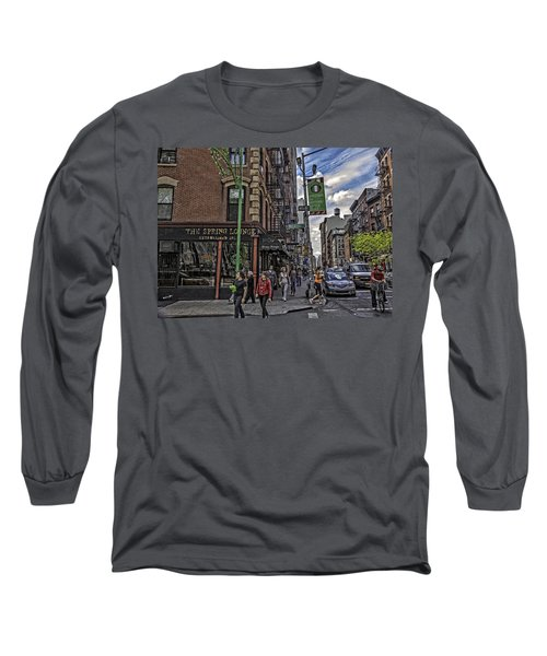 Spring And Mulberry - Street Scene - Nyc Long Sleeve T-Shirt
