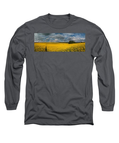 Spring At Oilseed Rape Field Long Sleeve T-Shirt by Davorin Mance