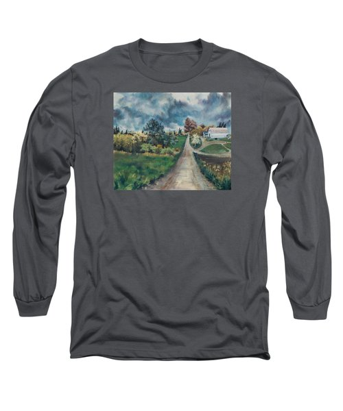 Long Sleeve T-Shirt featuring the painting Spring Farm by Joy Nichols