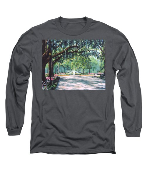 Spring In Forsythe Park Long Sleeve T-Shirt by Stanton Allaben