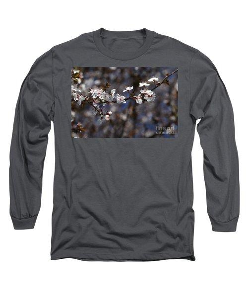 Spring White Blossom Long Sleeve T-Shirt