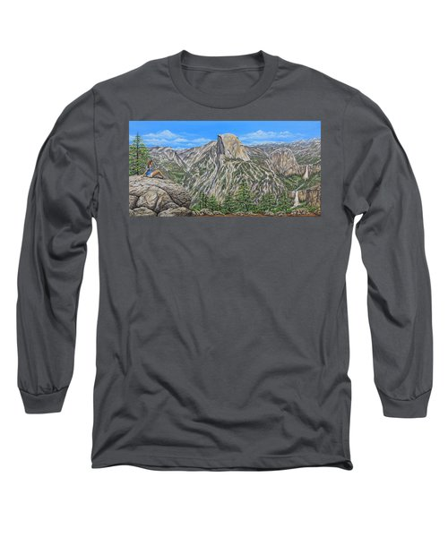 Springtime In Yosemite Valley Long Sleeve T-Shirt by Jane Girardot
