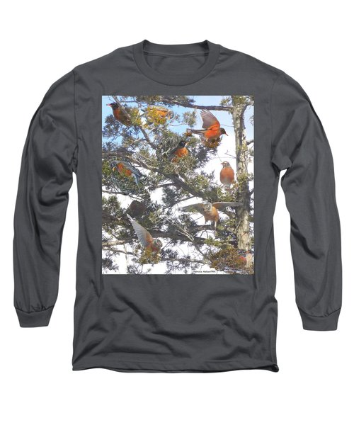 Springtime Moments- Birds Of A Feather Long Sleeve T-Shirt