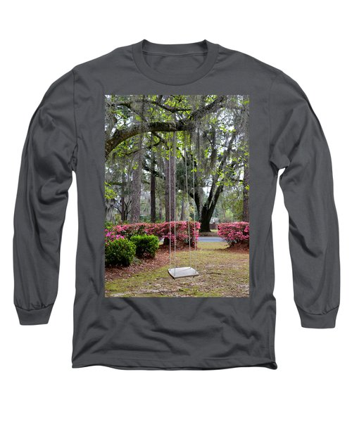 Springtime Swing Time Long Sleeve T-Shirt by Carla Parris