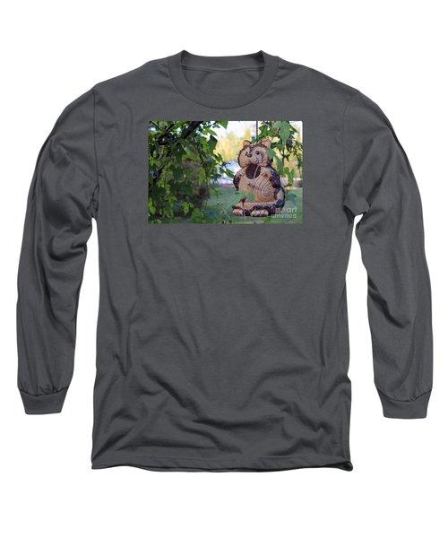 Squirrel Bird Feeder Long Sleeve T-Shirt