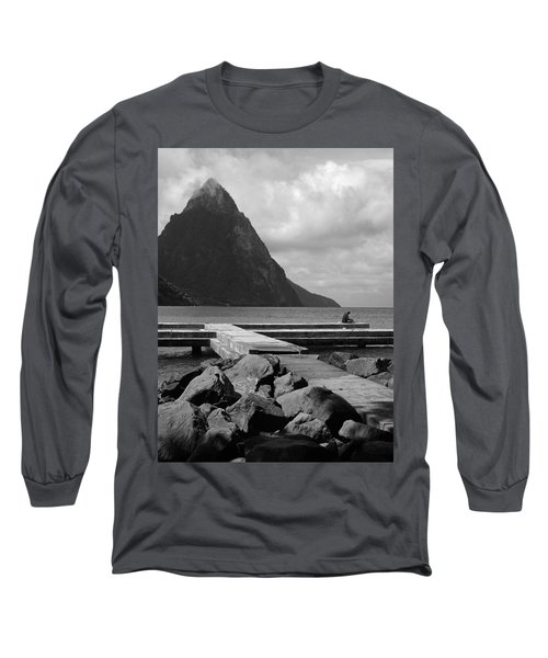 St Lucia Petite Piton 5 Long Sleeve T-Shirt