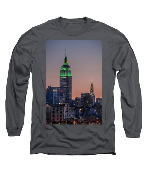 St Patrick's Day Postcard Long Sleeve T-Shirt