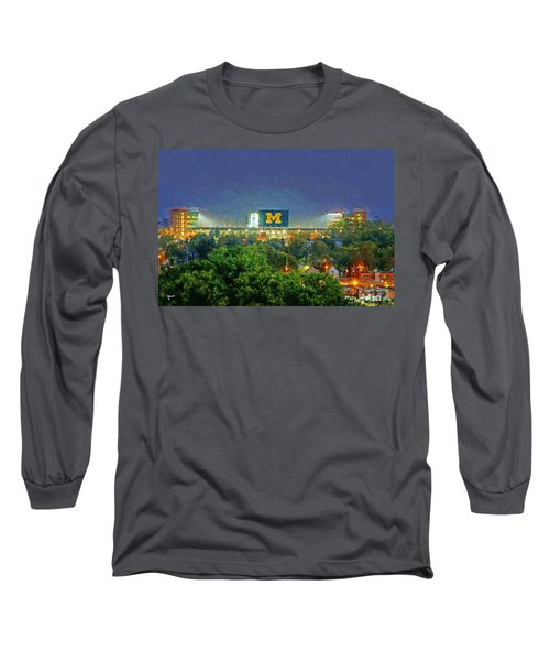 Stadium At Night Long Sleeve T-Shirt by John Farr