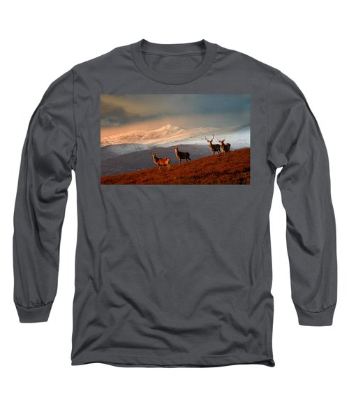 Stags At Strathglass Long Sleeve T-Shirt