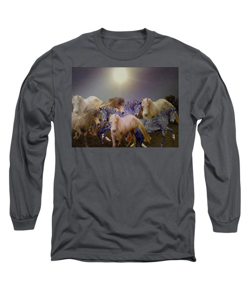 Stallions On Stage As Vivaldi's Spring Plays Long Sleeve T-Shirt