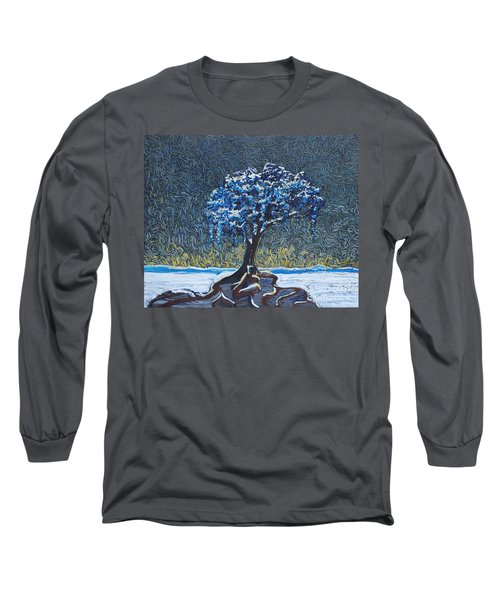 Standing Alone In The Snow Long Sleeve T-Shirt