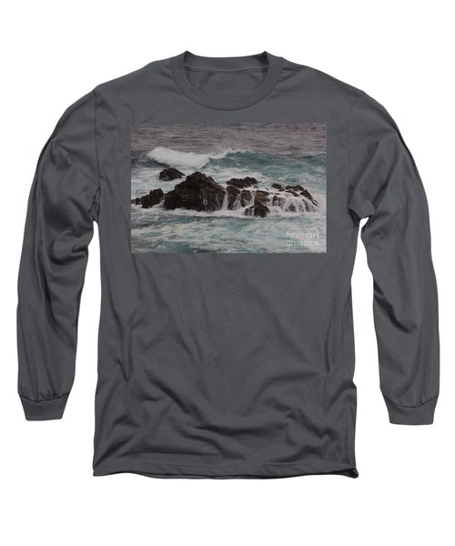 Long Sleeve T-Shirt featuring the photograph Standing Up To The Waves by Suzanne Luft